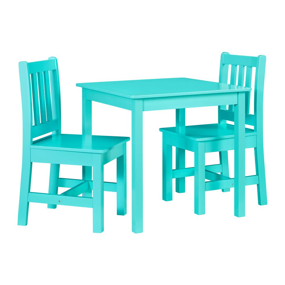 Table With Two Chairs Linon Home Decor Keena Teal Kid Table And Two Chairs