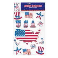 Amscan Patriotic Embossed Window Decorations (3-Pack ...
