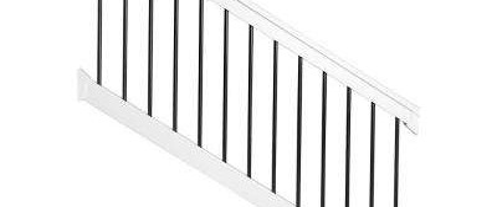Deck Stair Railings Deck Railings The Home Depot   Metal Handrail Home Depot   Wood   Stair Railings   Aluminum Railing   Outdoor Handrails   Staircase