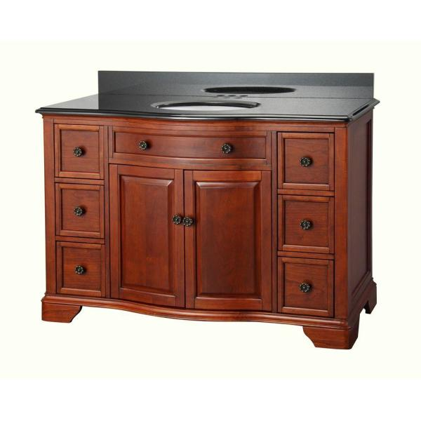Mahogany with Black Granite Vanity Top