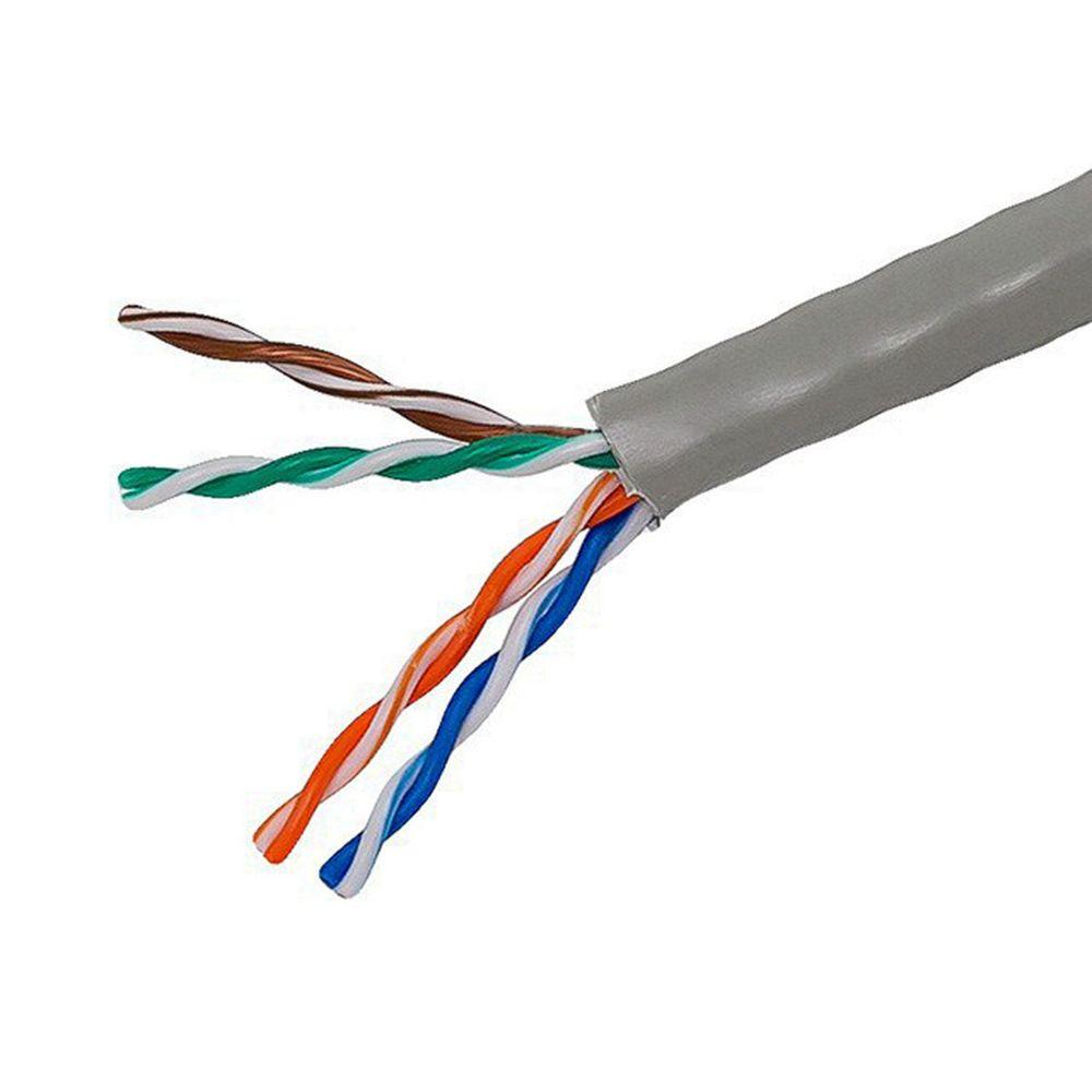 hight resolution of tygerwire category 5 1000 ft gray 24 4 unshielded twist pair cable cat 5 wiring home depot