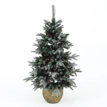Winsome House 4.5 Ft. Pre-lit Flocked Porch Christmas Tree