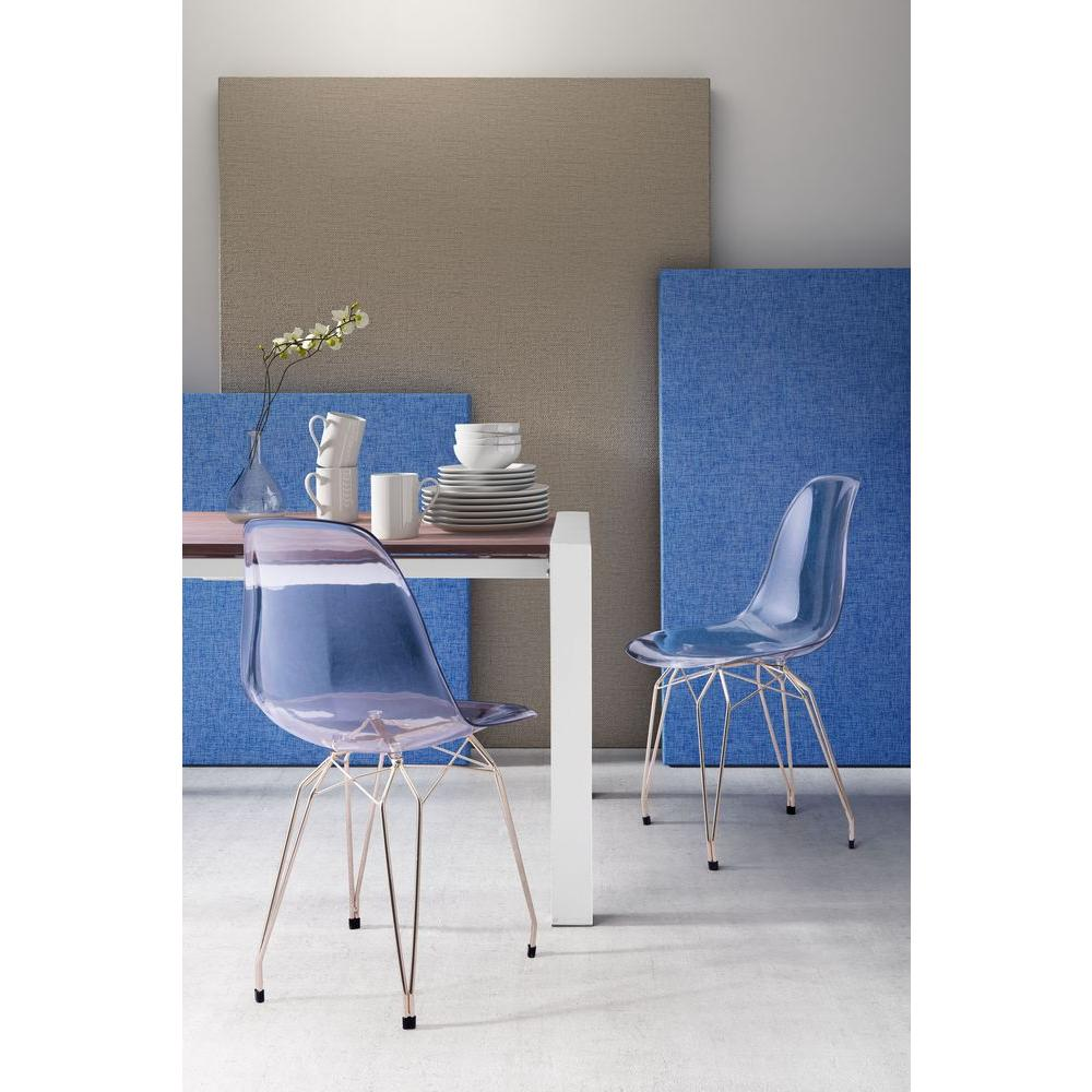transparent polycarbonate chairs behind the chair ombre zuo shadow clear dining set of 2 100262 home depot