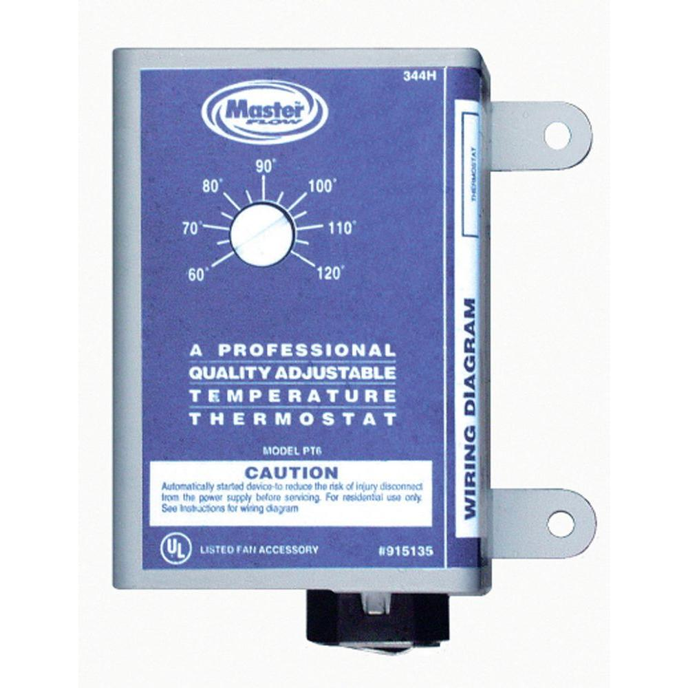 medium resolution of master flow manually adjustable thermostat for power vent