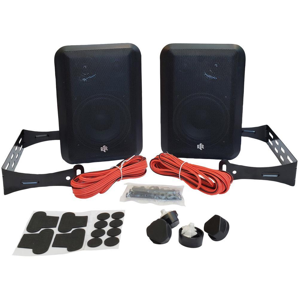 hight resolution of rtr series indoor outdoor speakers in black