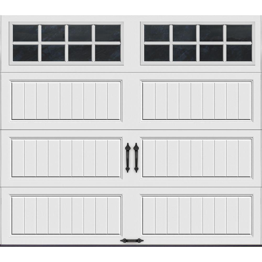 Clopay Gallery Collection 8 ft x 7 ft 65 RValue Insulated White Garage Door with SQ24 Window