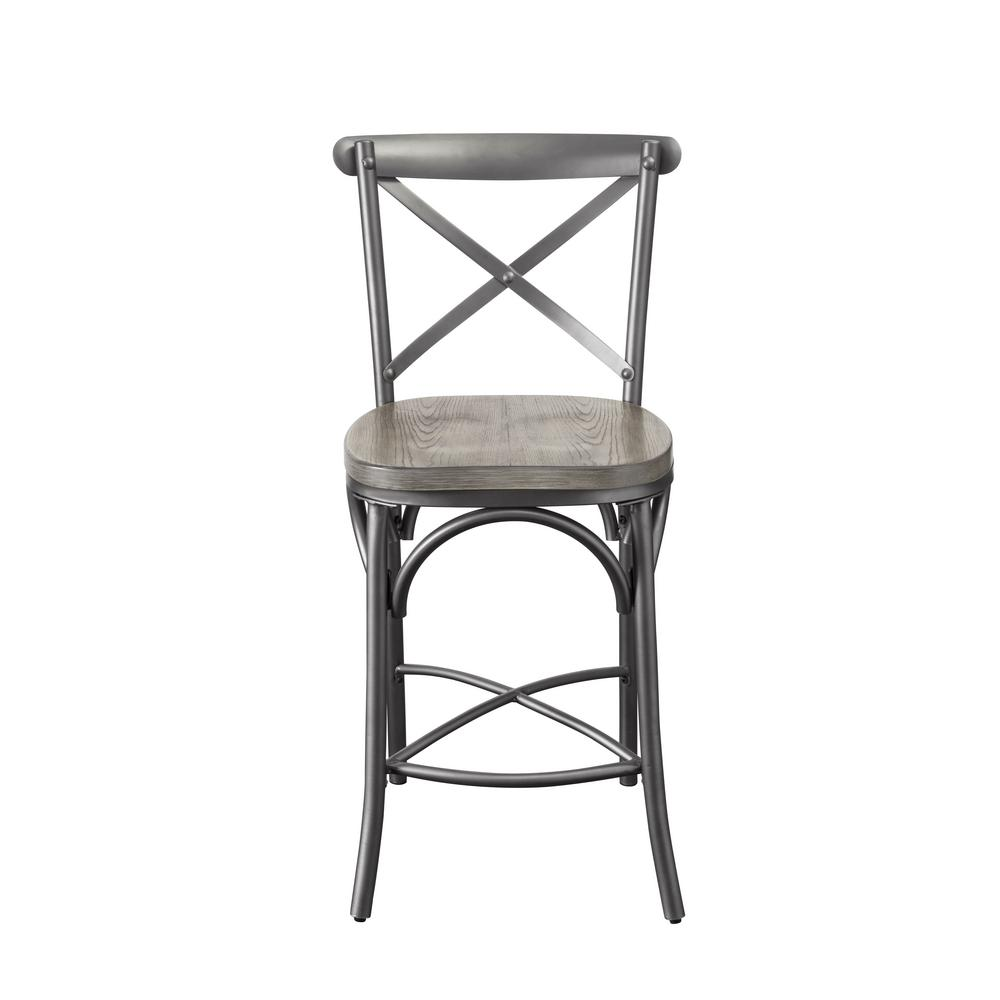 counter height chair small table and chairs for kitchen acme furniture kaelyn ii gray oak sandy set of 2