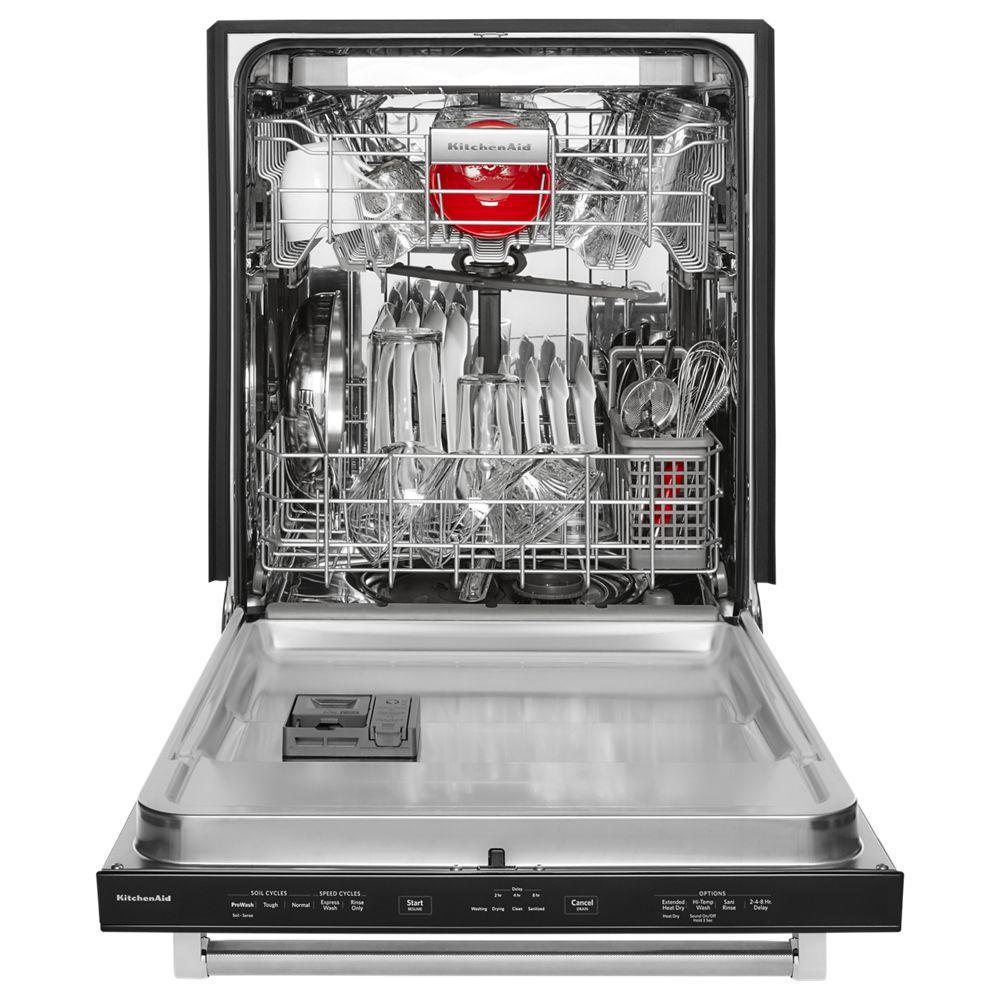 kitchen aide dishwasher 13 gallon trash can kitchenaid top control built in tall tub printshield 8
