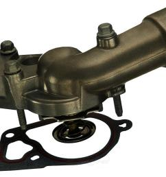 engine coolant thermostat water inlet assembly fits 2004 2008 buick allure lacrosse rendezvous [ 1000 x 1000 Pixel ]