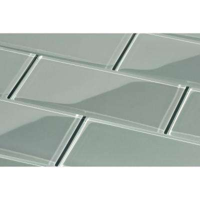 kitchen backsplash glass tiles shoes for tile the home depot true gray subway 3 in x 6 8mm and wall