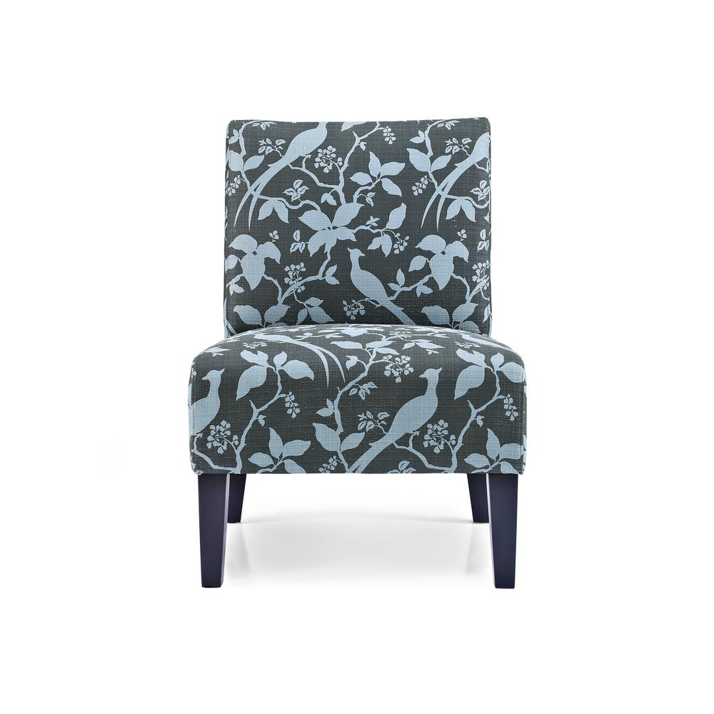 teal accent chair picture frame molding above rail monaco bardot ac mn bar te the home depot