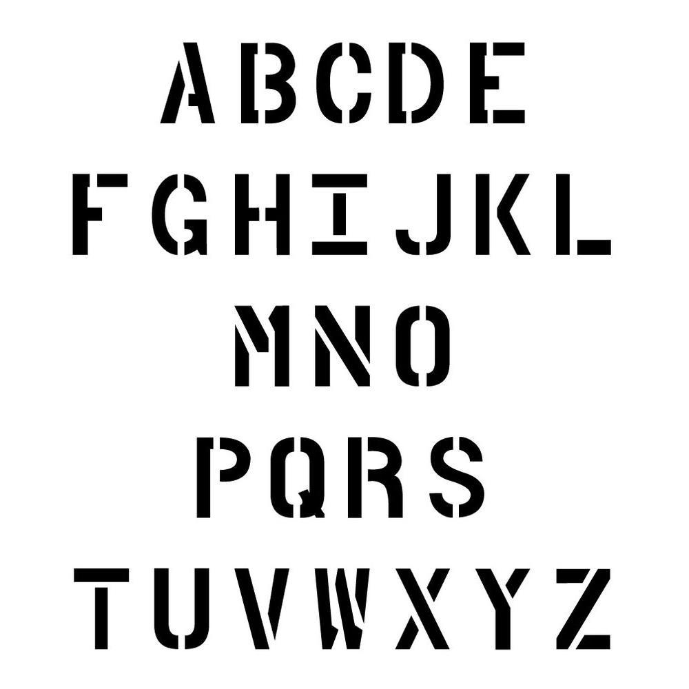 Stencil Ease 30 in. Parking Lot Alphabet Set-CCU0053A30