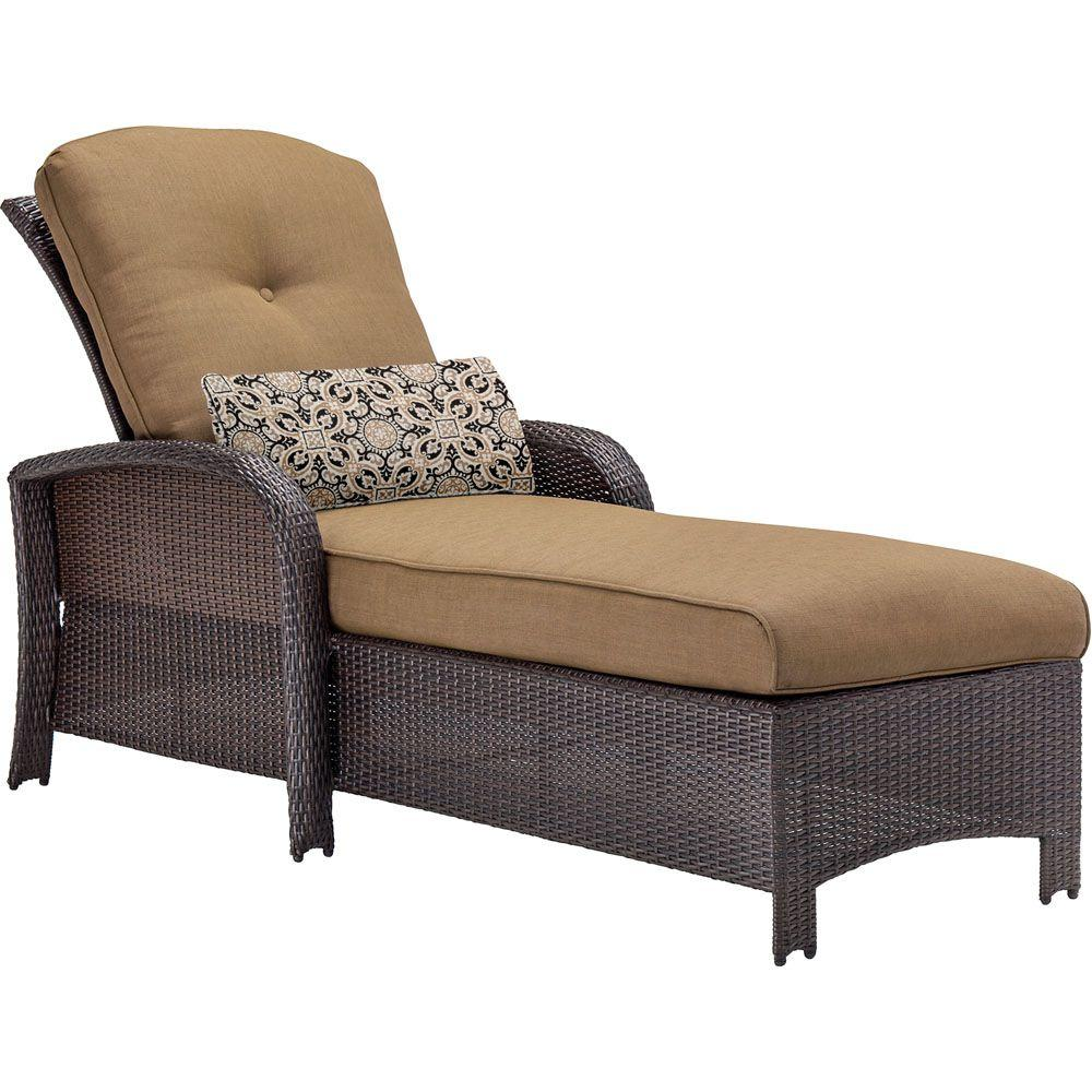 Hanover Strathmere AllWeather Wicker Patio Chaise Lounge