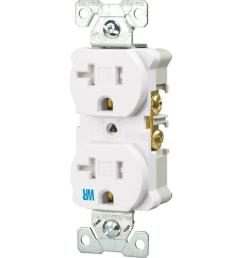 eaton 20 amp tamper and weather resistant electrical duplex outlet white [ 1000 x 1000 Pixel ]