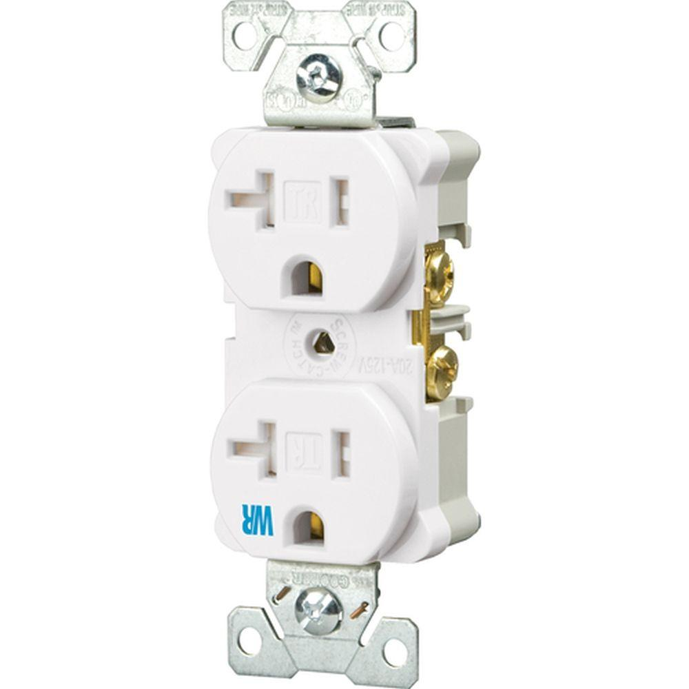 medium resolution of eaton 20 amp tamper and weather resistant electrical duplex outlet white