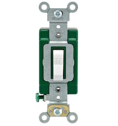 leviton 30 amp industrial double pole switch white [ 1000 x 1000 Pixel ]