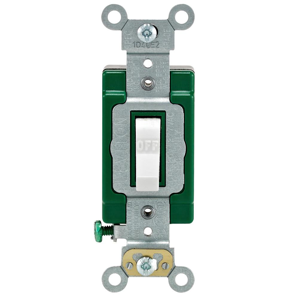 medium resolution of leviton 30 amp industrial double pole switch white
