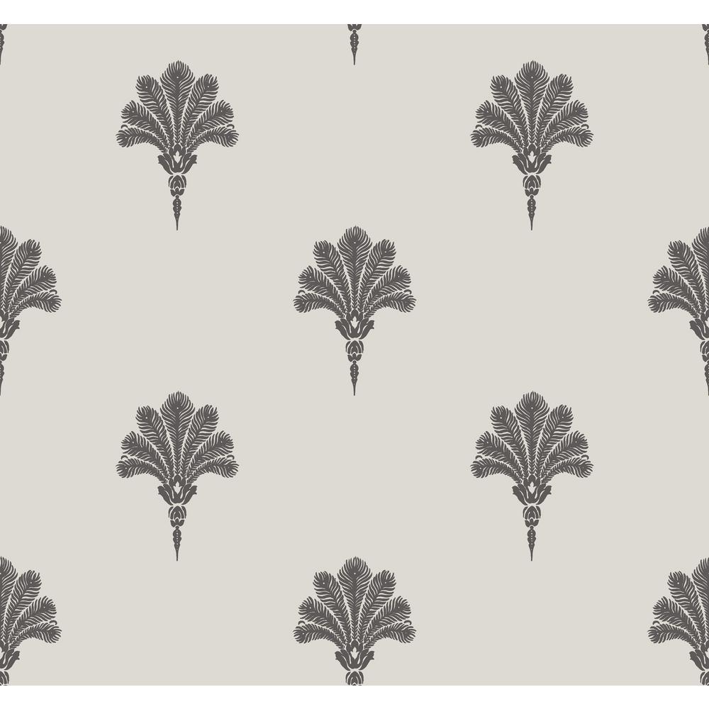 Seabrook Designs Summer Fan Black Sands Wallpaper-MB31600