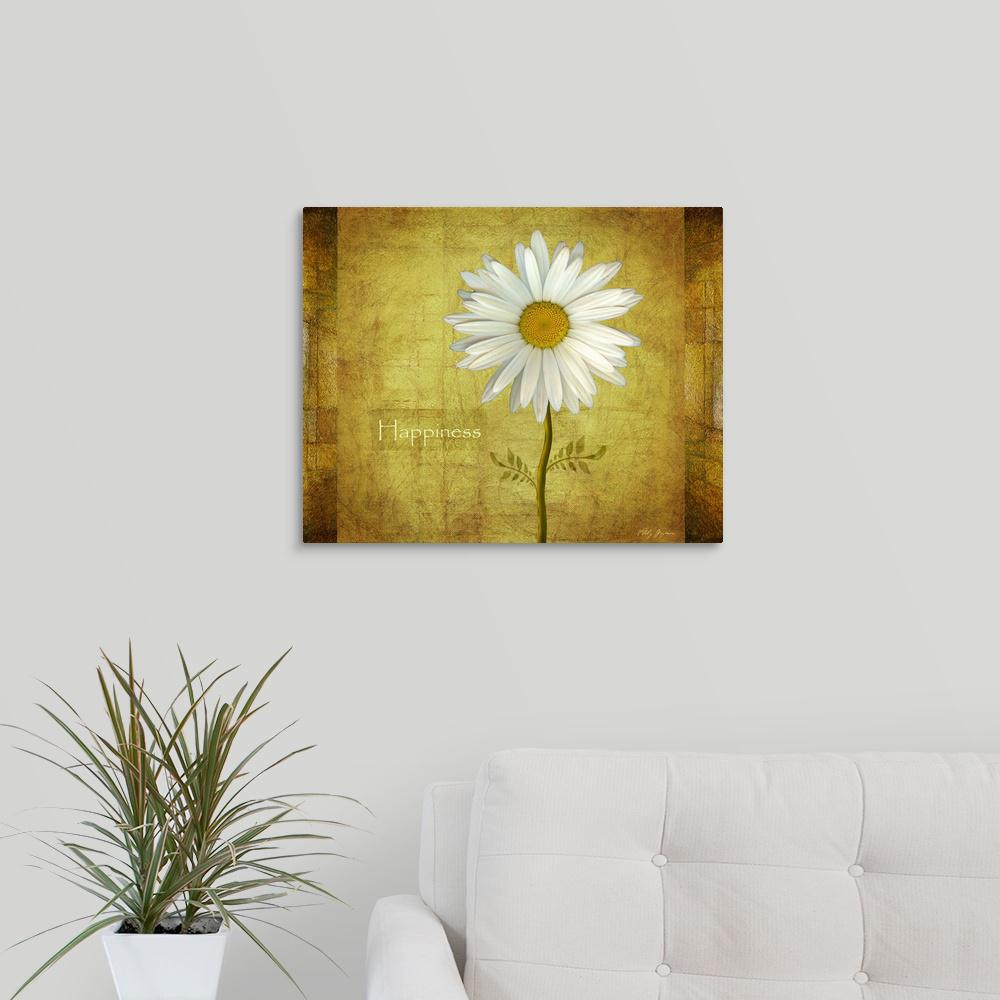 Greatbigcanvas Daisy Happiness By Vitaly Geyman Canvas Wall Art ...