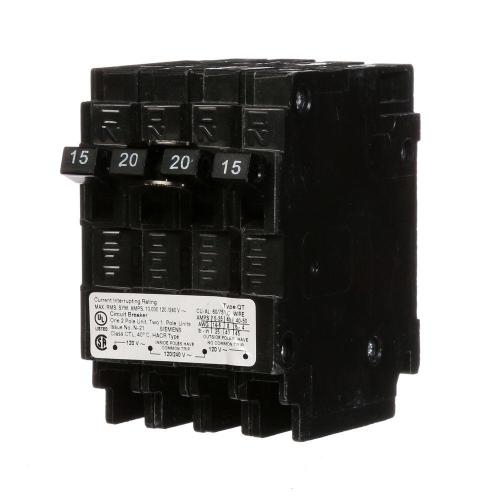 small resolution of triplex two outer 15 amp single pole and one inner 20 amp double pole circuit breaker
