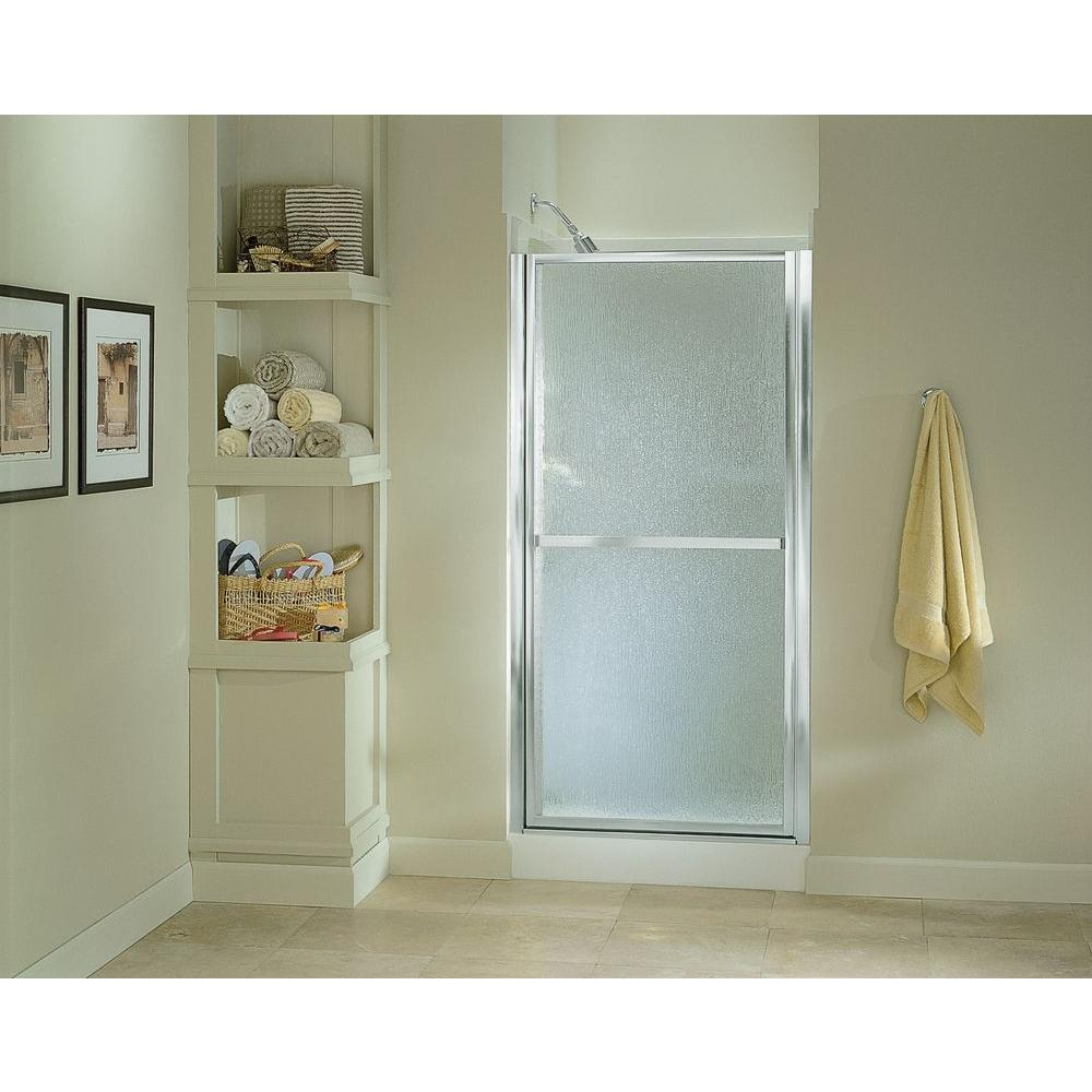 STERLING Finesse 3312 in x 6512 in Framed Pivot Shower Door in Silver with Handle650633S