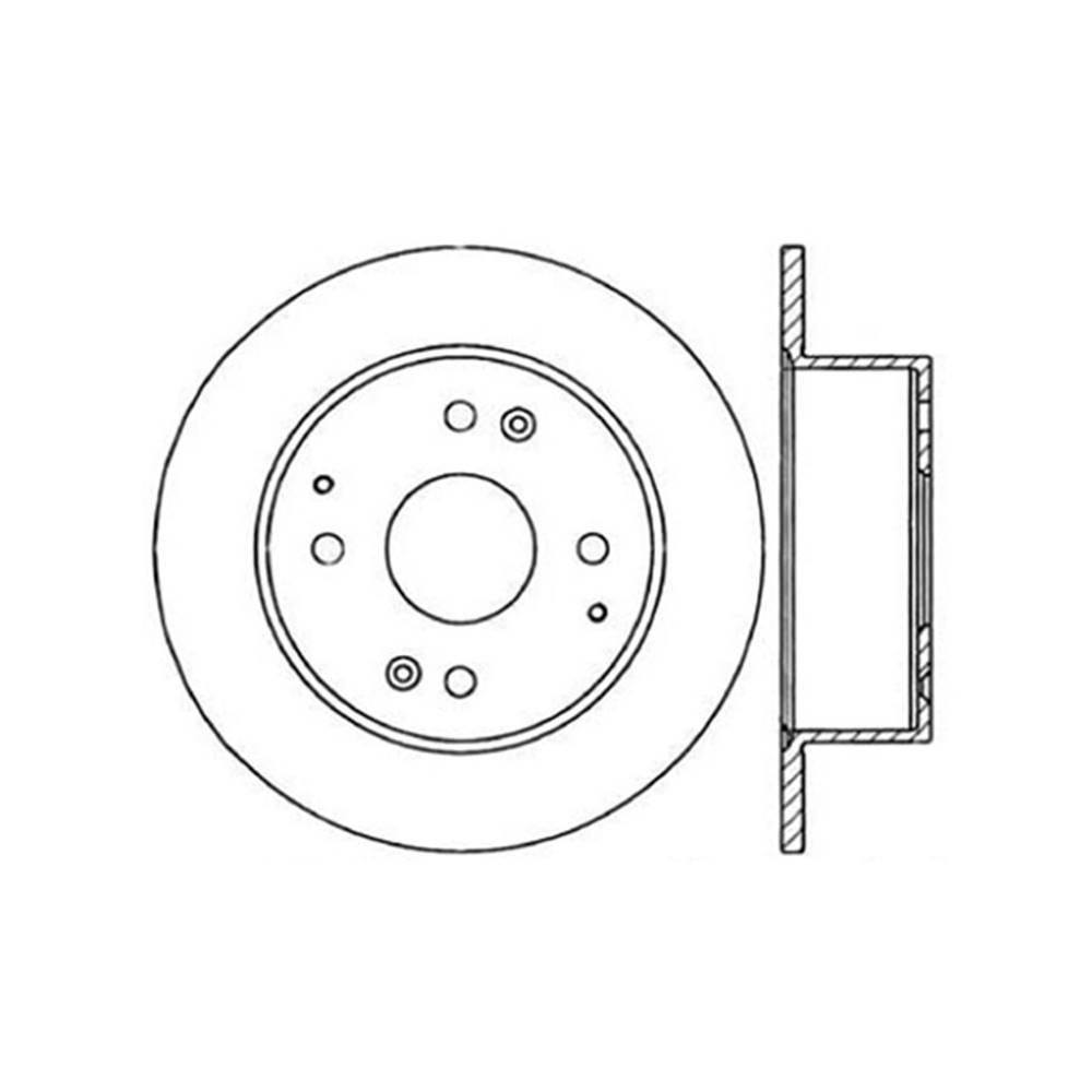 Centric Parts Disc Brake Rotor 1995-1998 Acura TL 2.5L-121