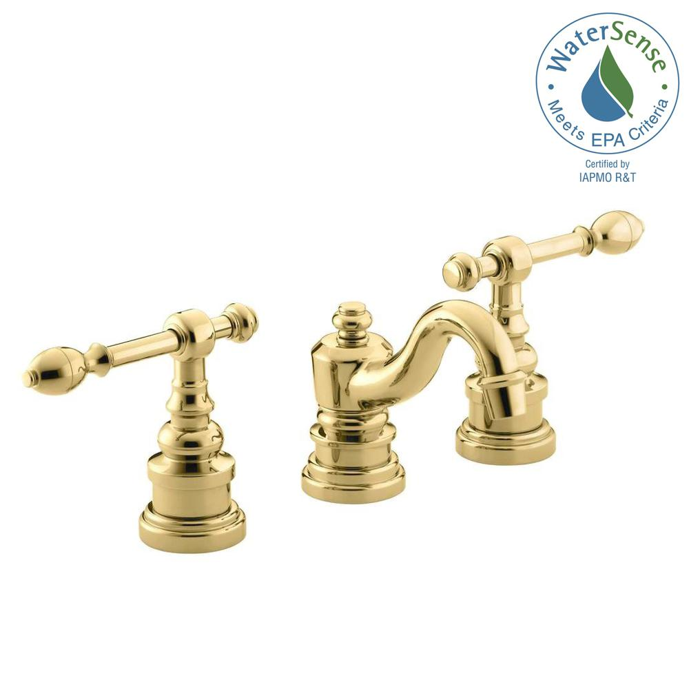 kohler iv georges brass 8 in. widespread 2-handle low-arc bathroom