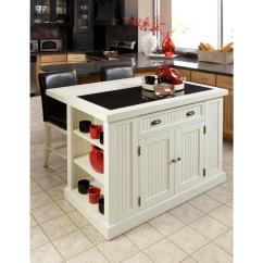 Kitchen Island Home Depot Nook Sets With Storage Styles Nantucket White Granite Top 5022 94 The