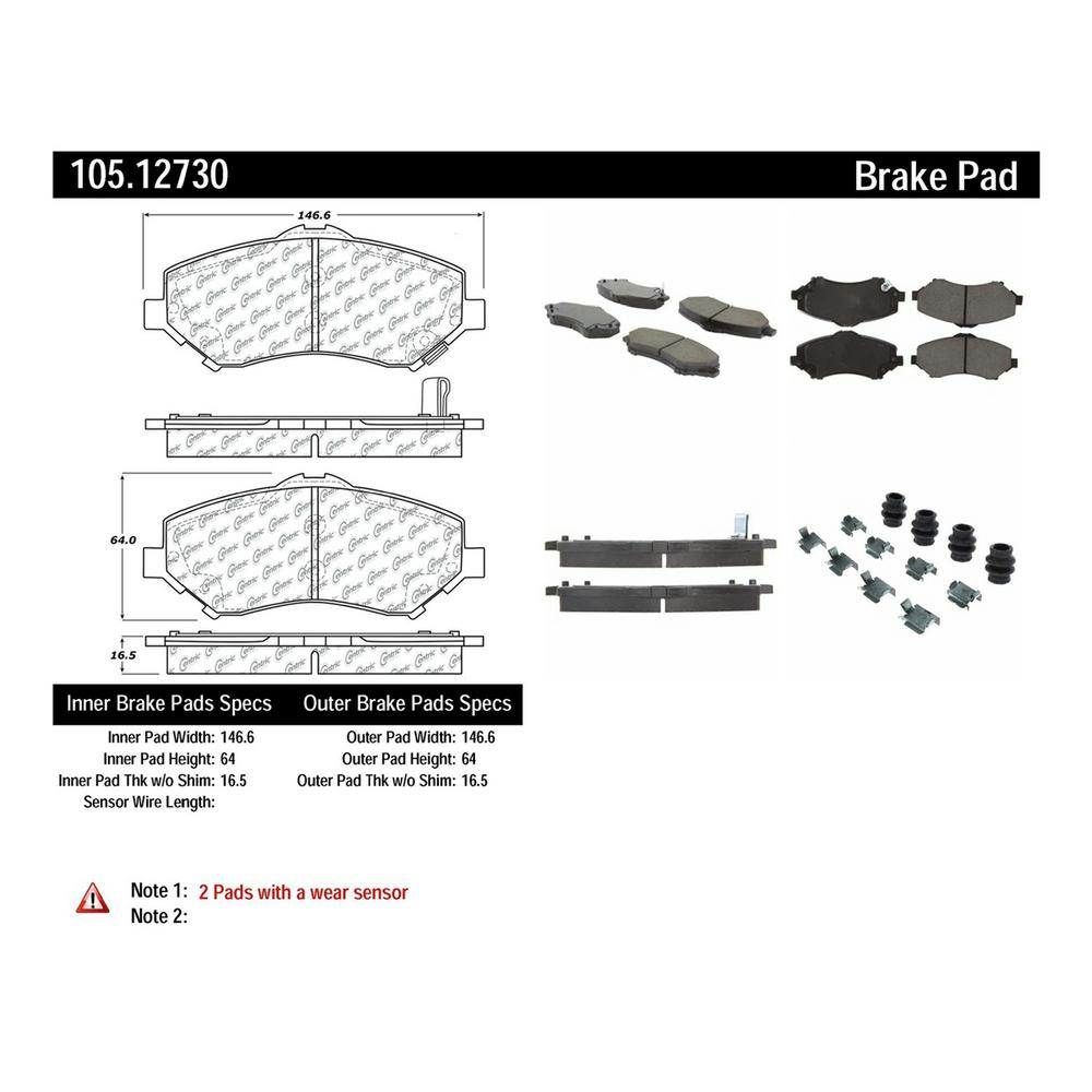 medium resolution of disc brake pad set