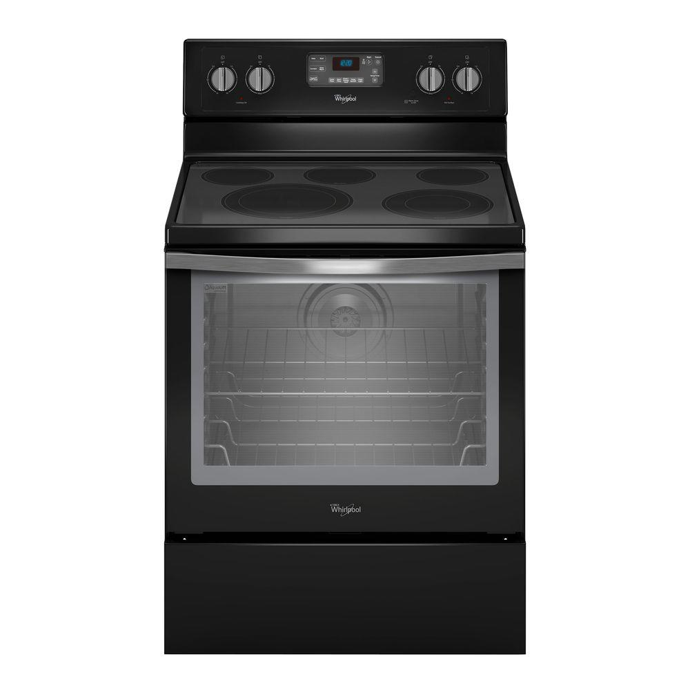 hight resolution of whirlpool 6 4 cu ft electric range with self cleaning convection oven in stainless steel wfe540h0es the home depot