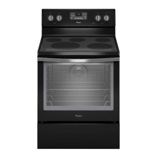 small resolution of whirlpool 6 4 cu ft electric range with self cleaning convection oven in stainless steel wfe540h0es the home depot