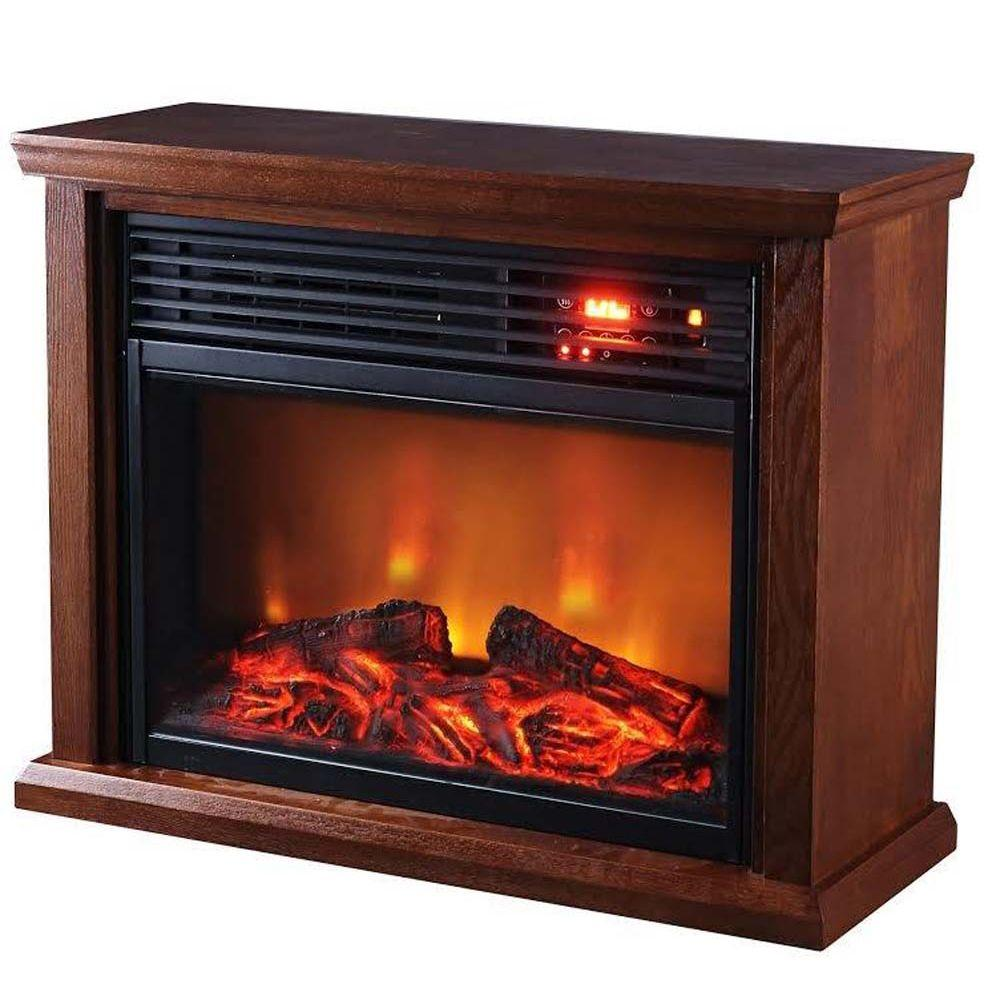 SUNHEAT 1500Watt Patented Heat Exchanger Large Room Infrared Fireplace Heater with Remote