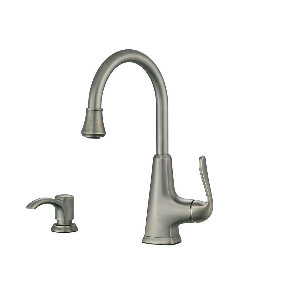 slate kitchen faucet corner sink pfister pasadena single handle bar in f 072 pdsl the
