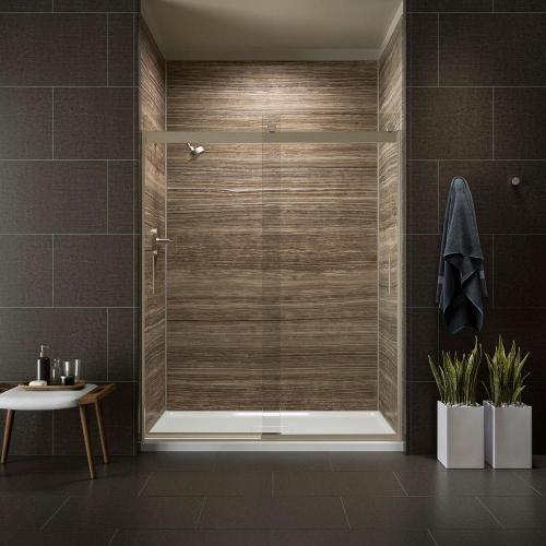 small resolution of kohler levity 59 in x 82 in frameless sliding shower door in bronze with