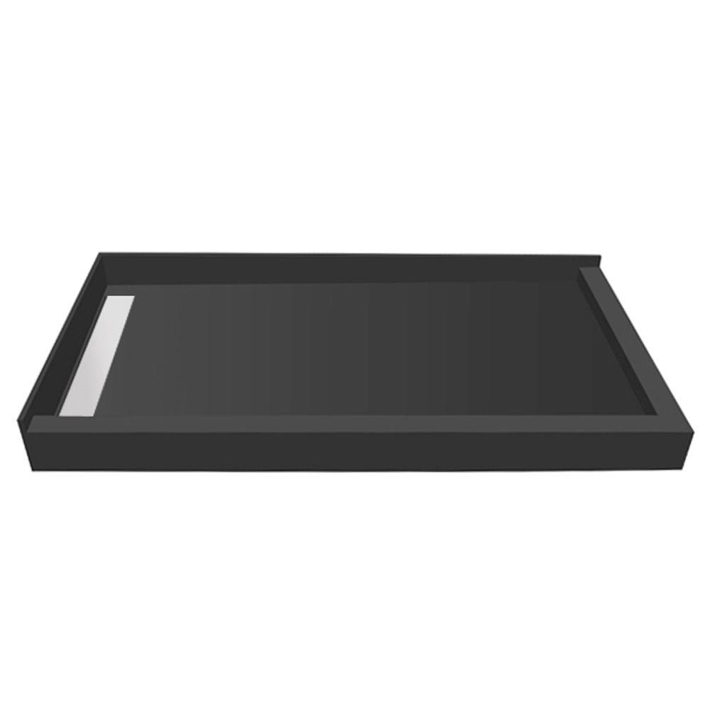 WonderFall Trench 32 in. x 48 in. Double Threshold Shower