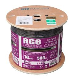 rg6 dual shield 500 ft black cm coaxial cable [ 1000 x 1000 Pixel ]