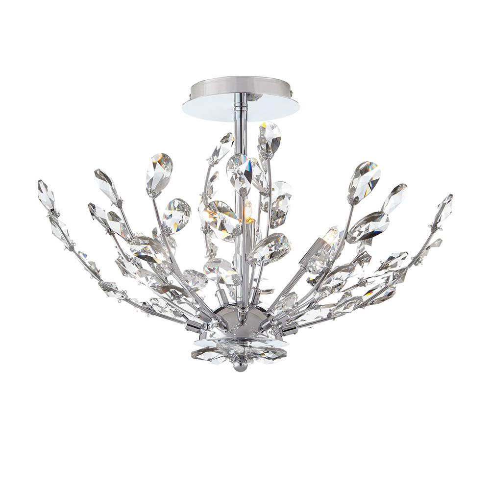 Home Decorators Collection 20 in. 4-Light Chrome Semi