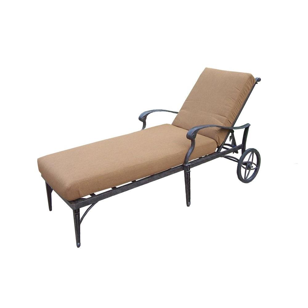 Teak Chaise Lounge Chairs Oakland Living Belmont Aluminum Patio Chaise Lounge With Sunbrella Canvas Teak Cushion