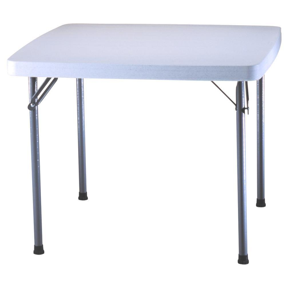 folding card table and chairs chair covers red lifetime 37 in x white granite square 22315 the