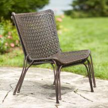 Hampton Bay Arthur -weather Wicker Patio Stack Chair 2