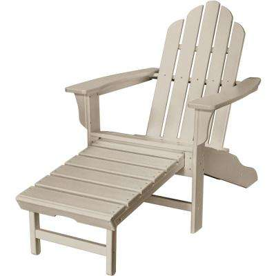 patio chair with ottoman canada kitchen chairs at walmart adirondack furniture the home depot sand all weather plastic outdoor hide away