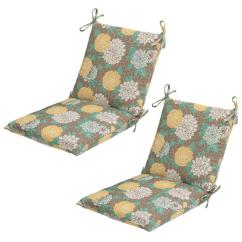 Chair Cushions Tie On Events By Designer Covers Hampton Bay 20 X 17 Outdoor Dining Cushion In Standard Petula 2 Pack