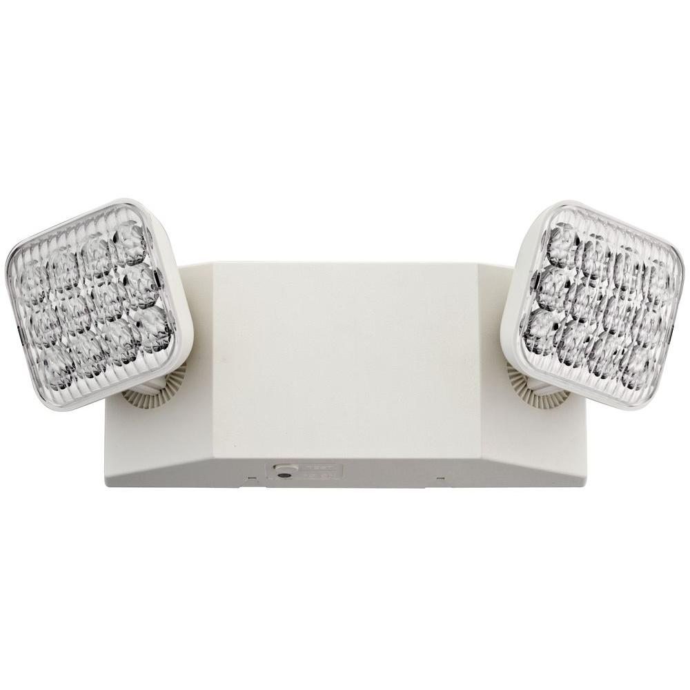 hight resolution of lithonia lighting white 2 light t20 integrated led wall mount emergency light with adjustable optics