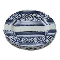 9 in. Melamine Artisan Salad Plates in Blue (Set of 4 ...