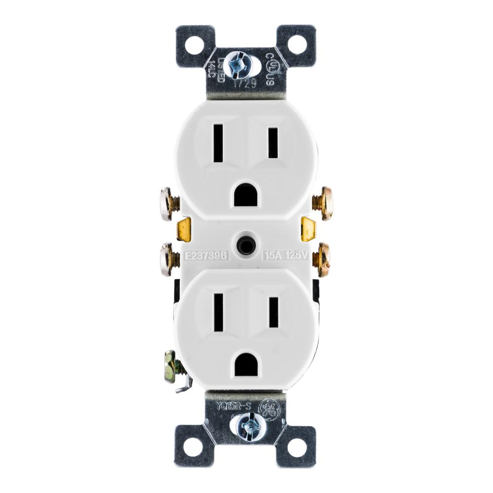 medium resolution of ge grounding duplex receptacle with fast easy pressure lock wiring
