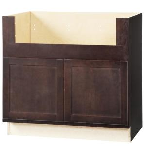 Hampton Bay Shaker Assembled 36x345x24 In Farmhouse Apron Front Sink Base Kitchen Cabinet In