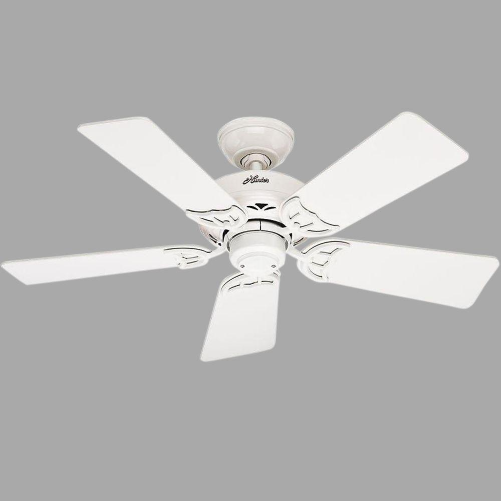 Hunter Hudson 42 in. Indoor White Ceiling Fan