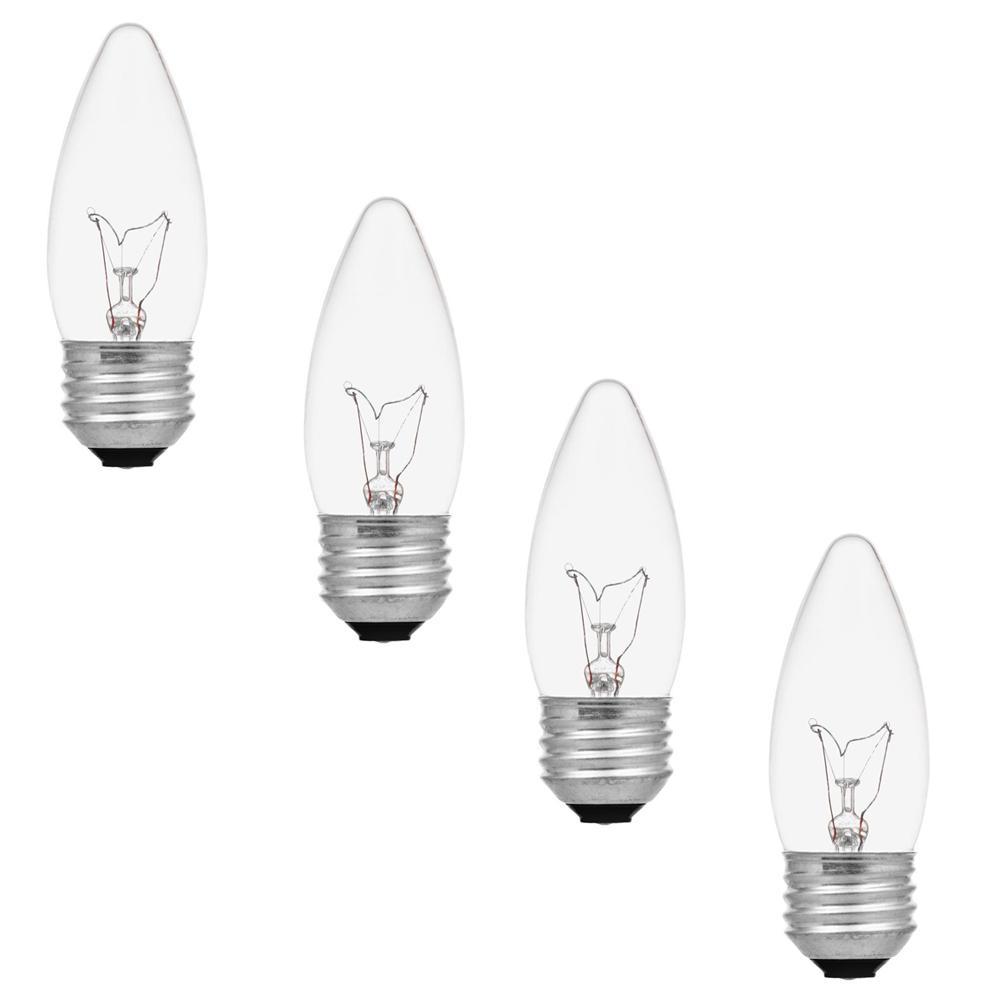 Sylvania 40-Watt Double Life B10 Incandescent Light Bulb