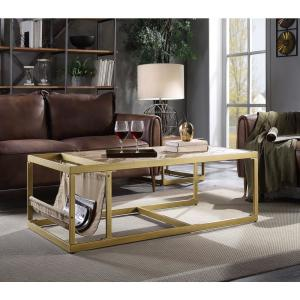 retro living room coffee table the missoula acme furniture genevieve brown top grain leather 2