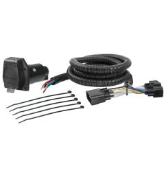 curt custom wiring harness 7 way rv blade output 56307 the home home trailer hitches hitch wiring curt trailer wiring adapters 7way [ 1000 x 1000 Pixel ]